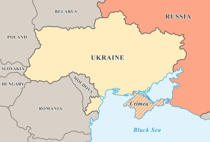 TTT_Crimea annexation. Political map of Crimean crisis 2014.